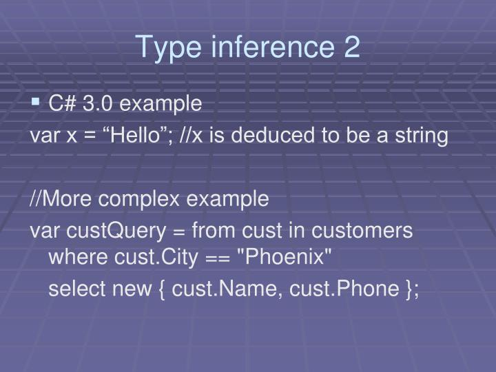 Type inference 2