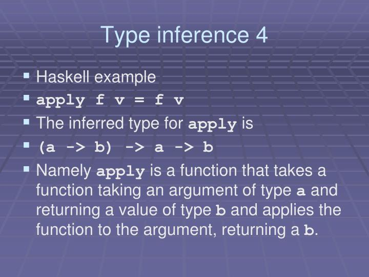 Type inference 4