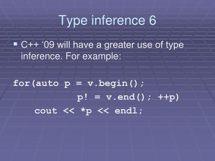 Type inference 6