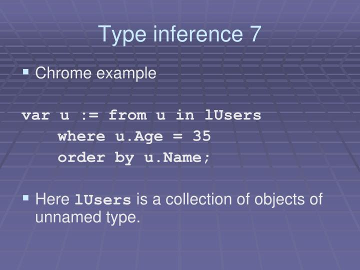 Type inference 7