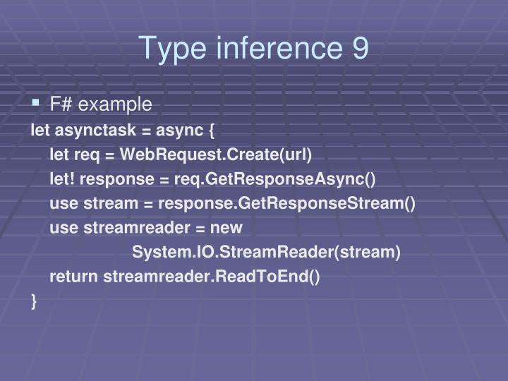 Type inference 9