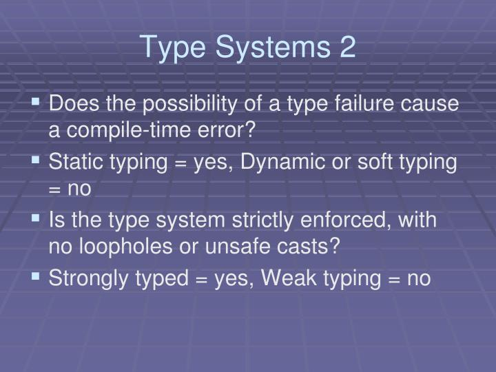 Type Systems 2