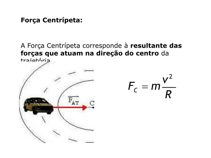 Força Centrípeta: