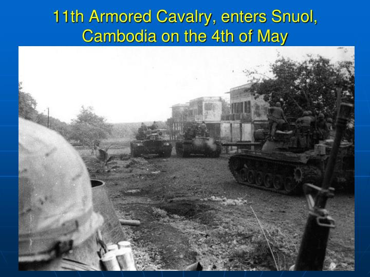 11th Armored Cavalry, enters
