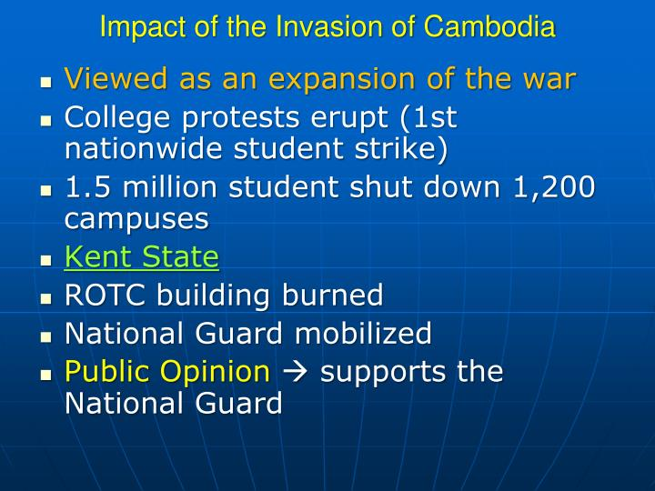 Impact of the Invasion of Cambodia