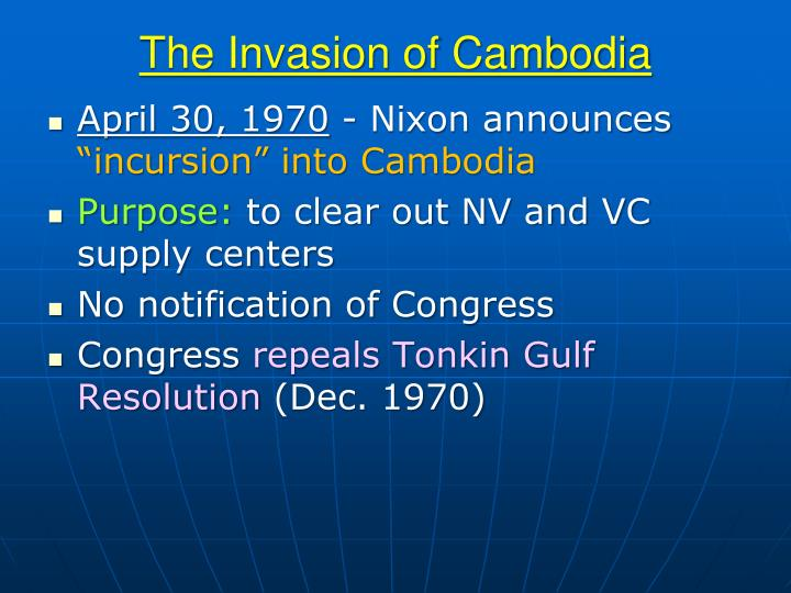 The Invasion of Cambodia