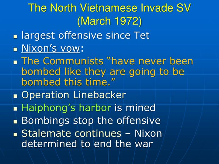 The North Vietnamese Invade SV (March 1972)