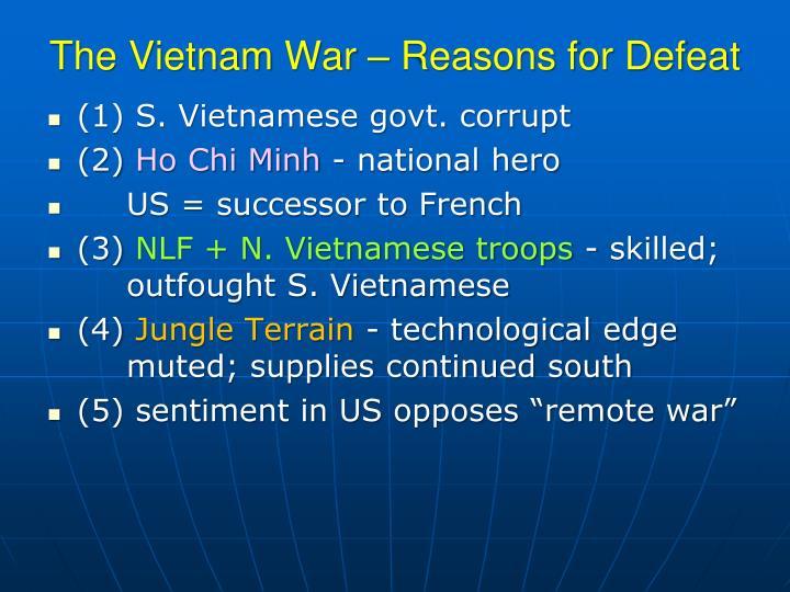 The Vietnam War – Reasons for Defeat