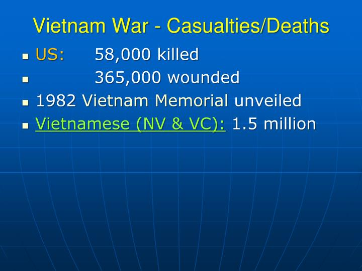 Vietnam War - Casualties/Deaths