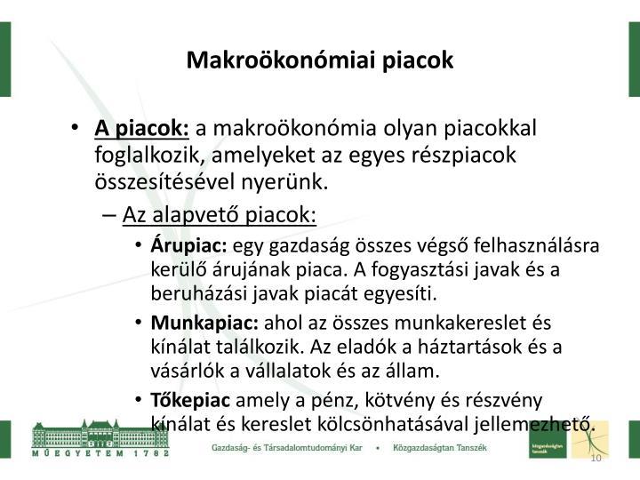 Makroökonómiai piacok
