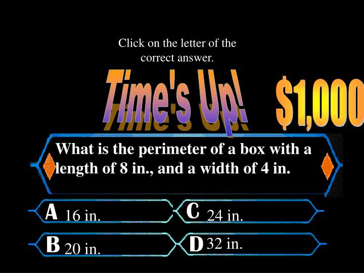 Click on the letter of the correct answer.
