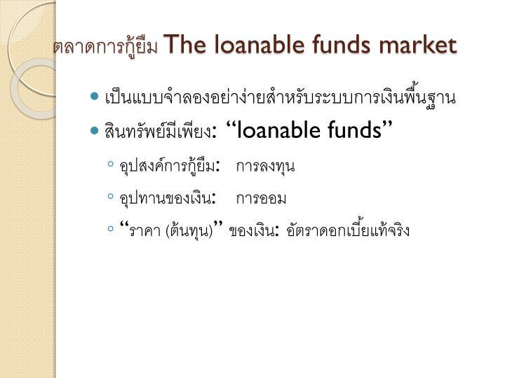 ตลาดการกู้ยืม