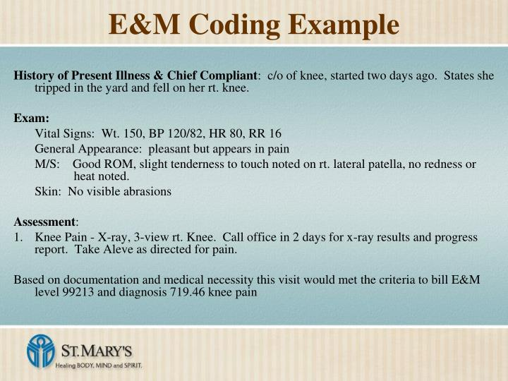 E&M Coding Example