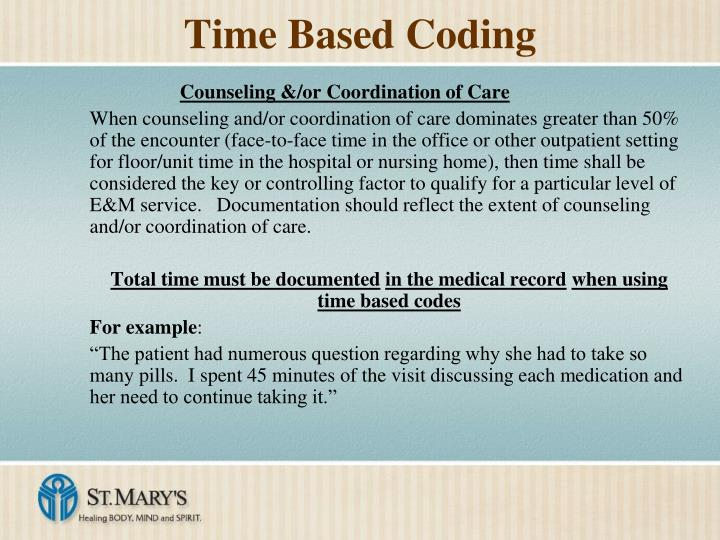 Time Based Coding