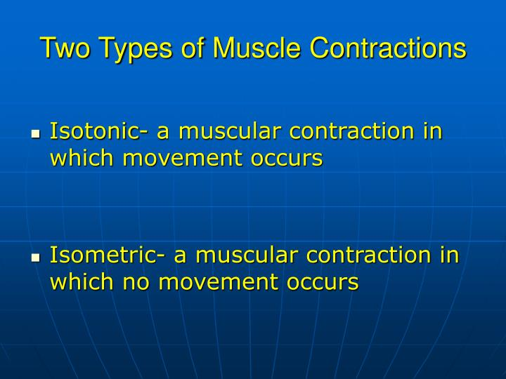 Two Types of Muscle Contractions