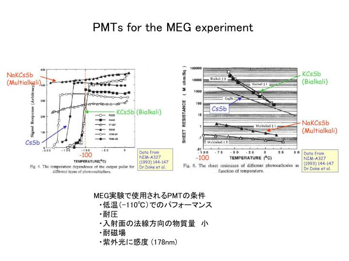PMTs for the MEG experiment