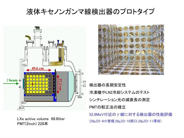 液体キセノンガンマ線検出器のプロトタイプ