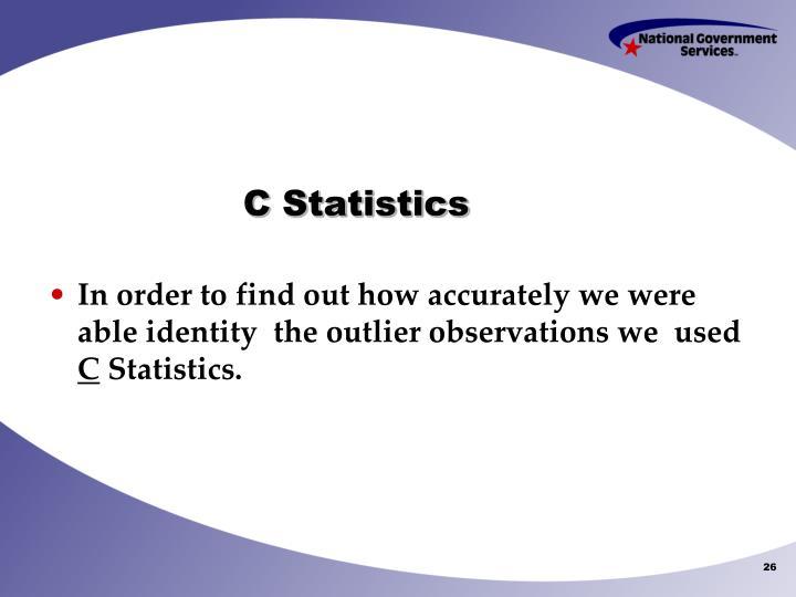 C Statistics