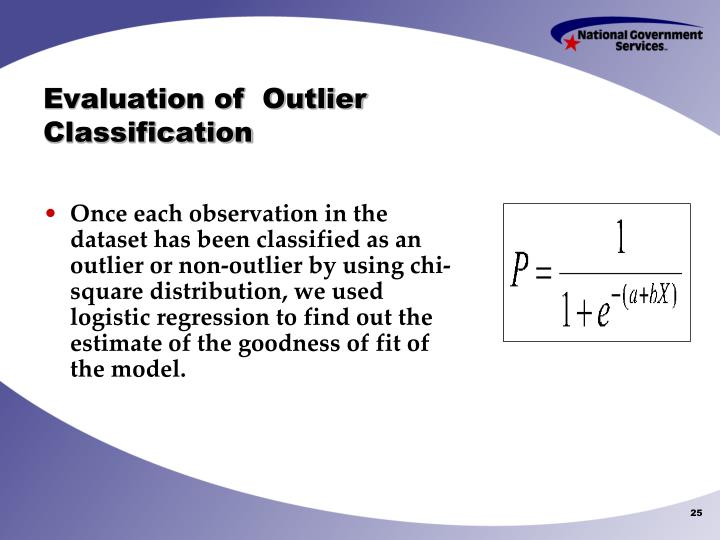 Evaluation of  Outlier Classification