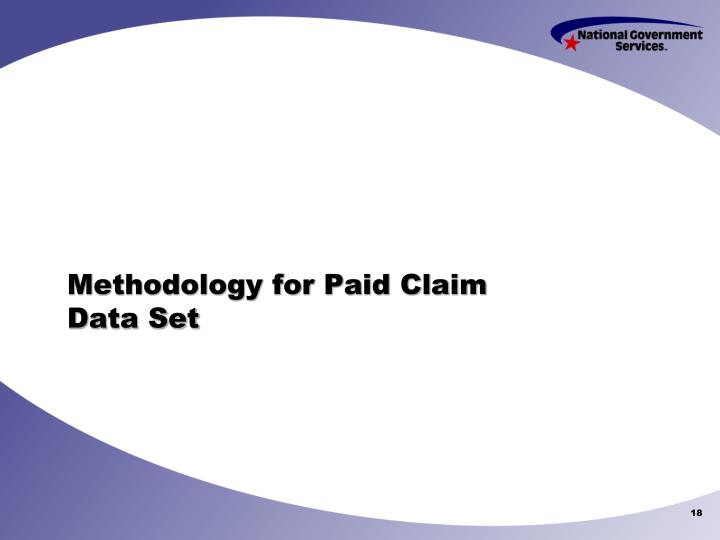 Methodology for Paid Claim Data Set