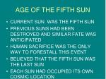 age of the fifth sun