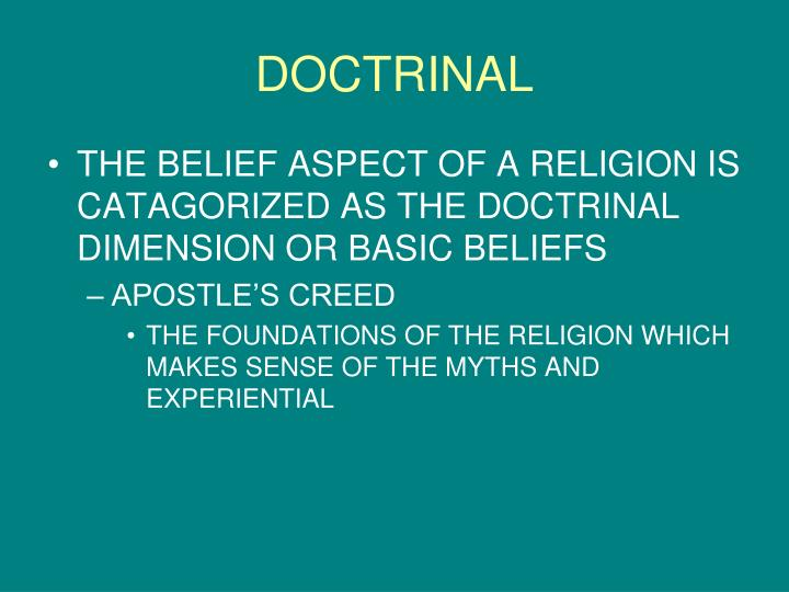 DOCTRINAL