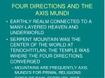 four directions and the axis mundi
