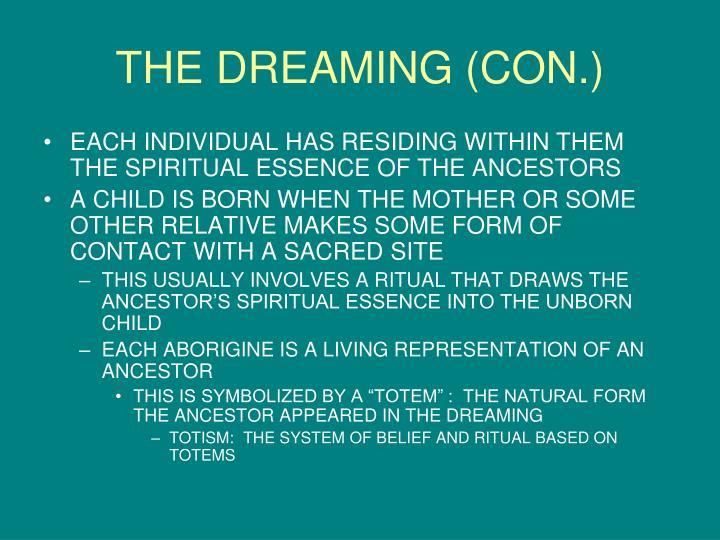 THE DREAMING (CON.)