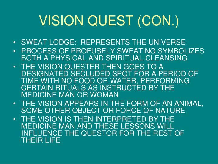 VISION QUEST (CON.)