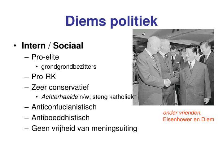 Diems politiek