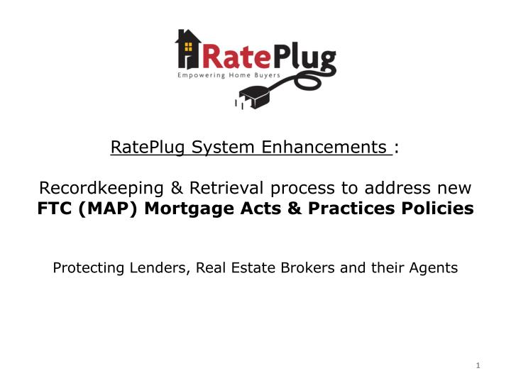 RatePlug System Enhancements