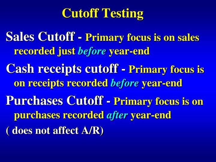 Cutoff Testing
