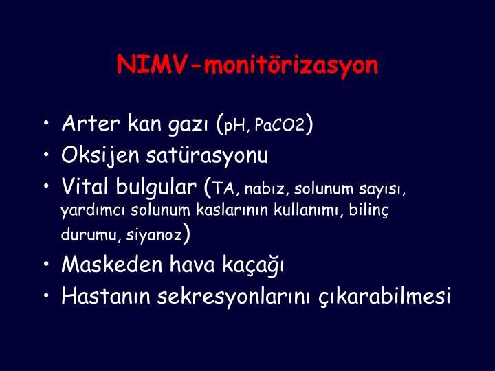 NIMV-monitörizasyon