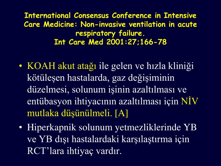 International Consensus Conference in Intensive Care Medicine: Non-invasive ventilation in acute respiratory failure.
