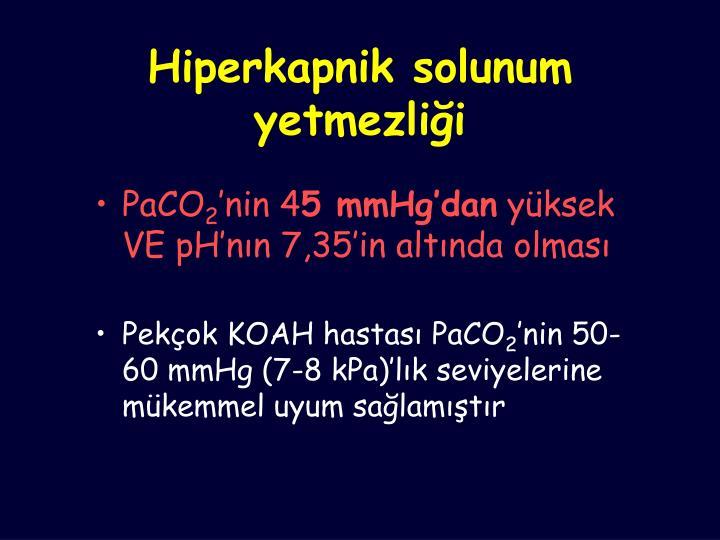 Hiperkapnik solunum yetmezliği