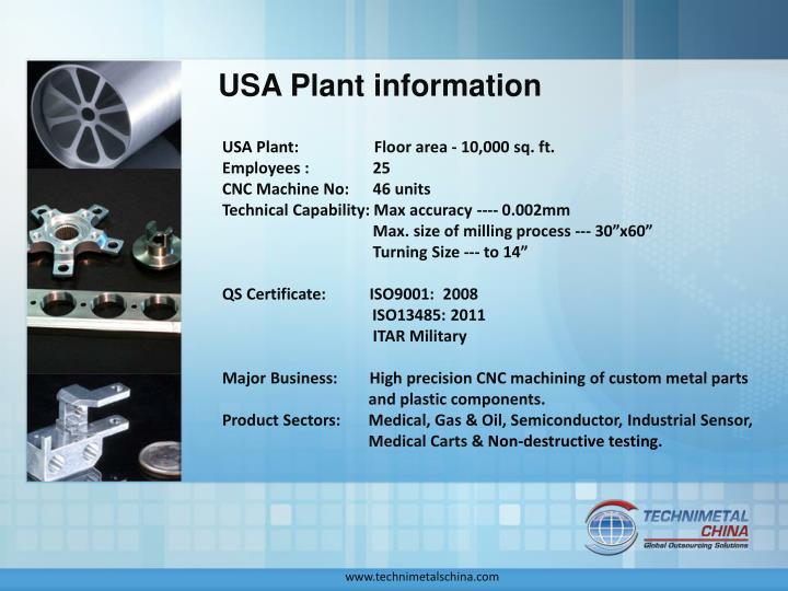 USA Plant information