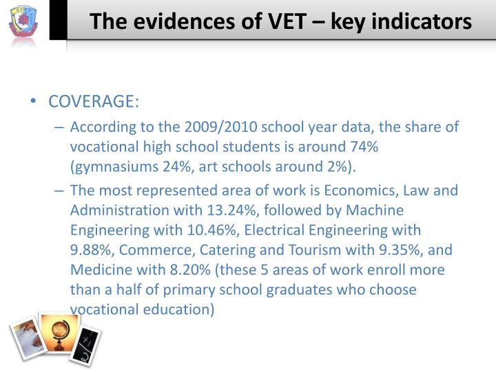 The evidences of VET – key indicators