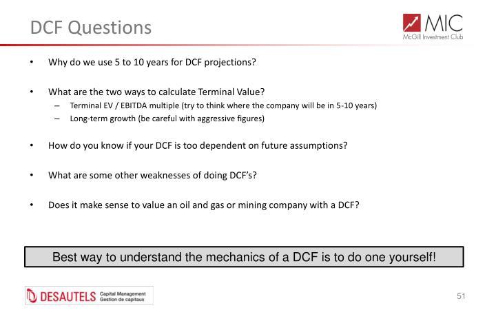 DCF Questions