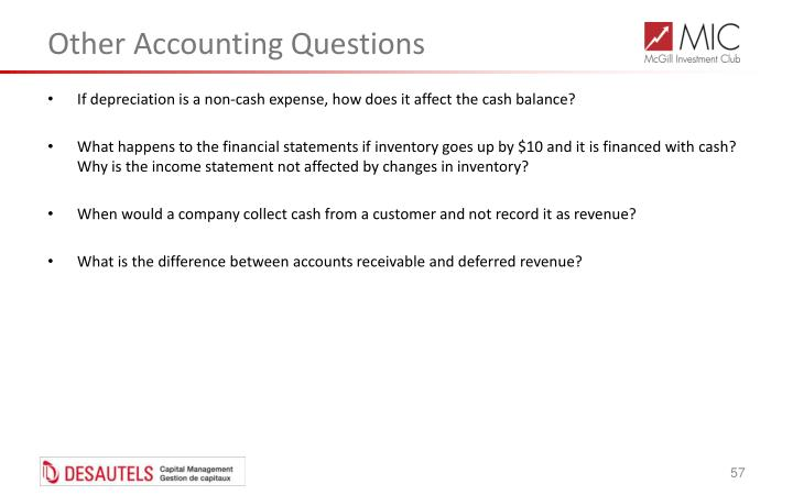 Other Accounting Questions