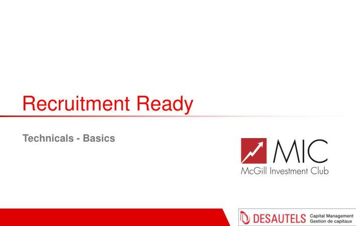 Recruitment Ready