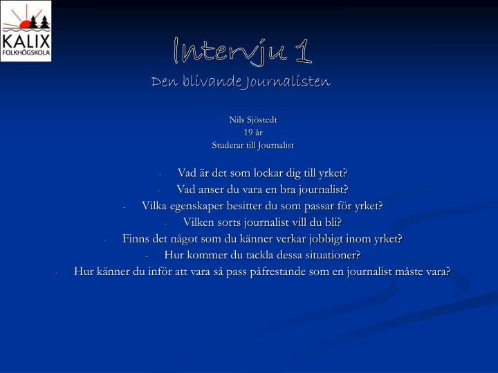 Den blivande Journalisten