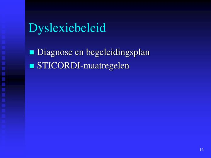 Dyslexiebeleid