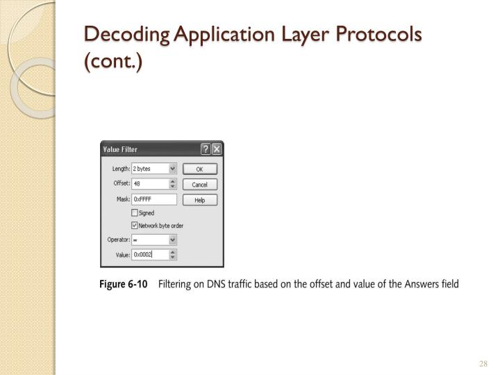 Decoding Application Layer Protocols (cont.)