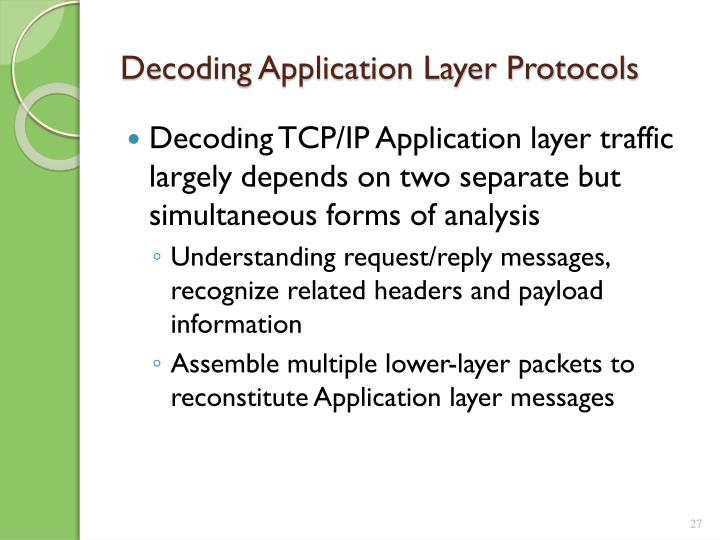 Decoding Application Layer Protocols