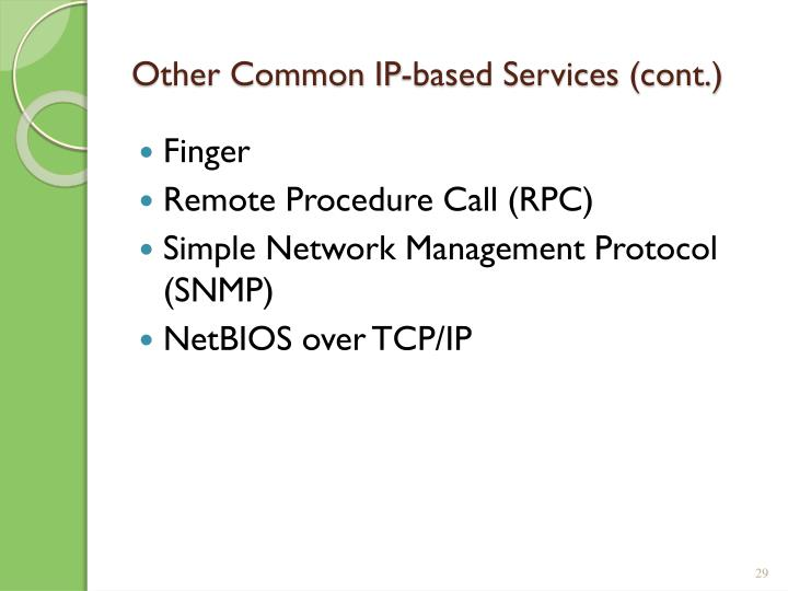 Other Common IP-based Services (cont.)