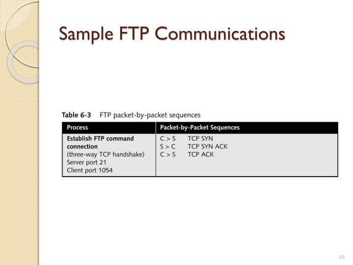 Sample FTP Communications