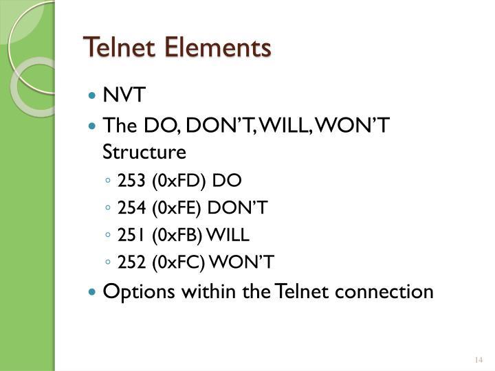 Telnet Elements