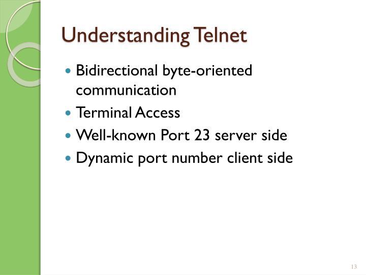 Understanding Telnet