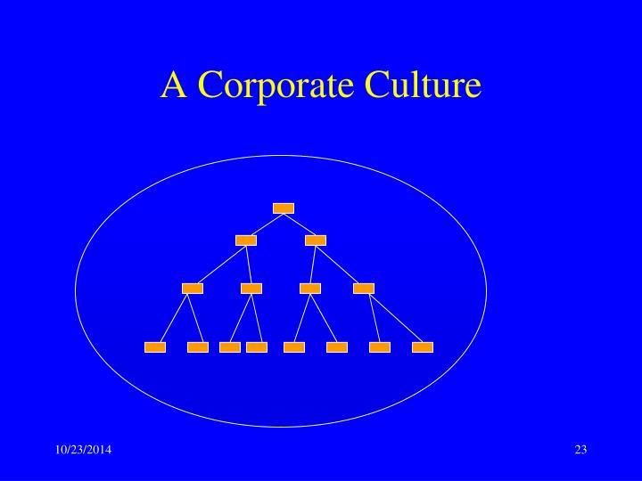 A Corporate Culture