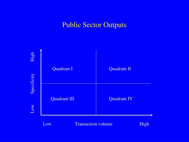 Public Sector Outputs